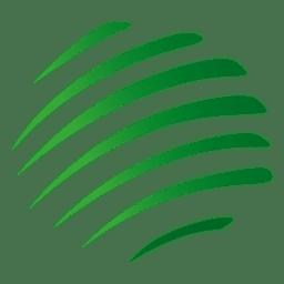 Ícone de órbita de listras verdes