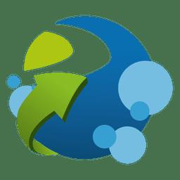 Logotipo da empresa de logística crescente