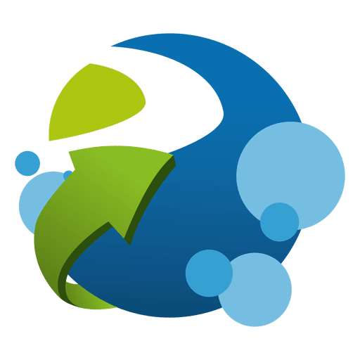 Growing logistic company logo Transparent PNG