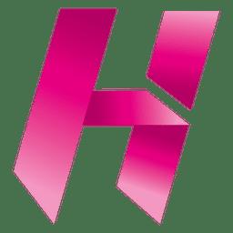 Isotipo de origami de letra H