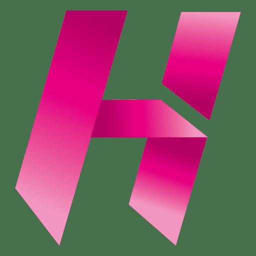 Isotipo origami letra h