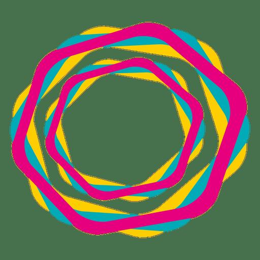 Sechseckige bunte Striche Symbol Transparent PNG