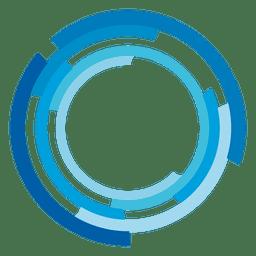 Logotipo de anéis de alta tecnologia