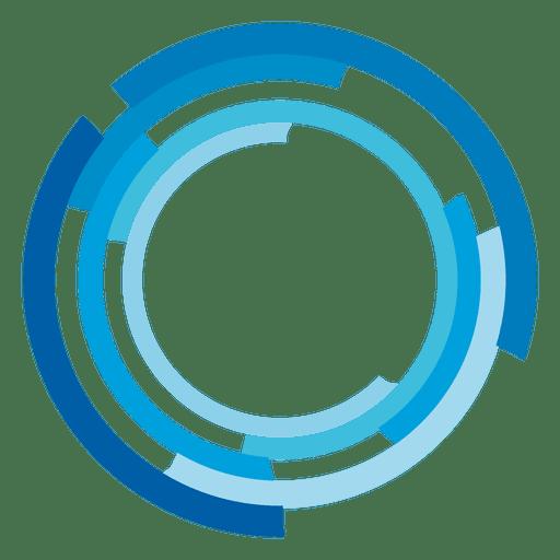 Logotipo de anillos de alta tecnología