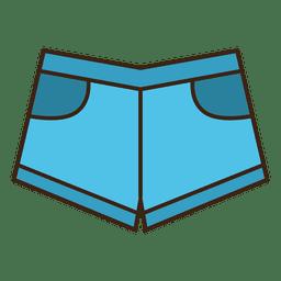 Jean ropa corta azul