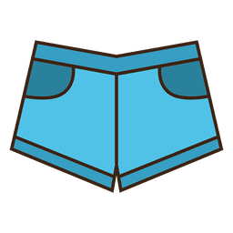 Jean roupas de baixo azul