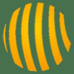 Icono de órbita espiral naranja