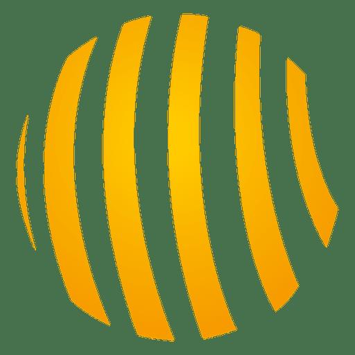 Orange spiral orbit icon Transparent PNG