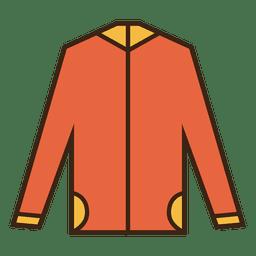 Camisola laranja com capuz