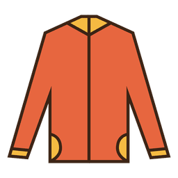 Suéter naranja con capucha ropa