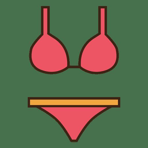 Pink stroke bikini underwear Transparent PNG