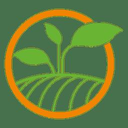 Logotipo do círculo da planta