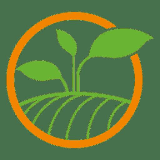 Logotipo del círculo de la planta
