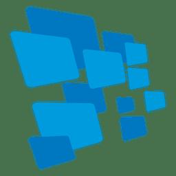 Logo de inovação de telas retangulares