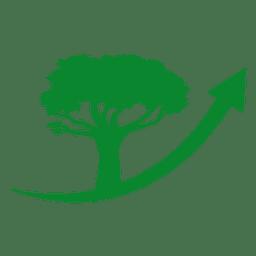 Logotipo da árvore da seta
