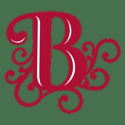 B letter swirls isotype