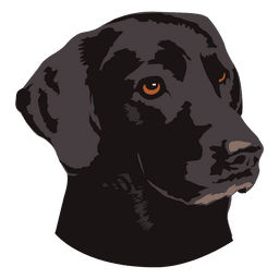 Black dog animal logo