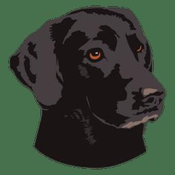 Logotipo de animal de perro negro