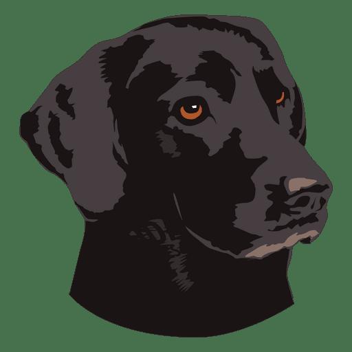 Logotipo de animal perro negro