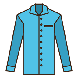 Blue stroke shirt clothes