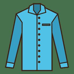 Ropa de camisa de trazo azul