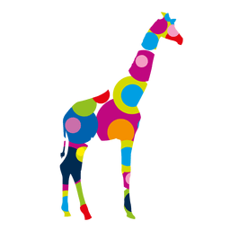 Colorful circles giraffee logo