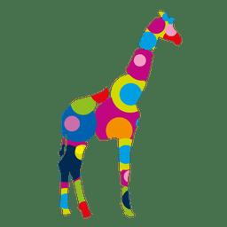 Logotipo de giraffee de círculos coloridos