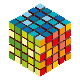 Colorful cubes logo