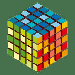Logo de cubos de colores
