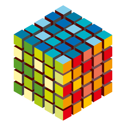 Logo de cubos de colores Transparent PNG