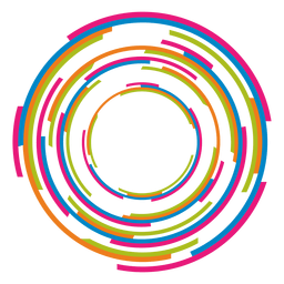 Colorful rings logo