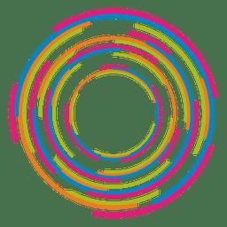 Logotipo de anéis coloridos