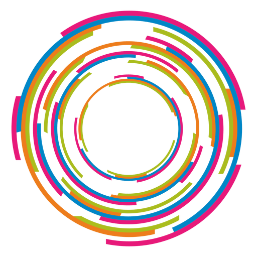 Colorful rings logo Transparent PNG