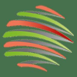 Icono de órbita espiral colorido
