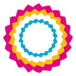 Colorful star circle icon