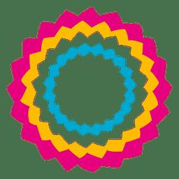 Icono de círculo de estrellas de colores