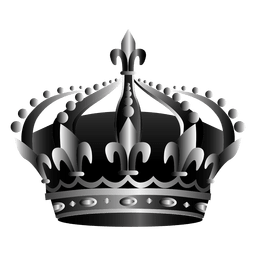 Coroa, ícone, ilustração