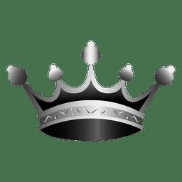Corona icono realista ilustración