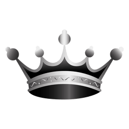 Crown icon realistic illustration