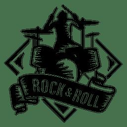 Baterista musical logo