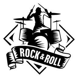 Drummer musical logo