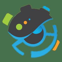 Logotipo de arte de círculos de olho