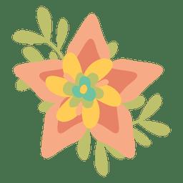 Flat flower doodle