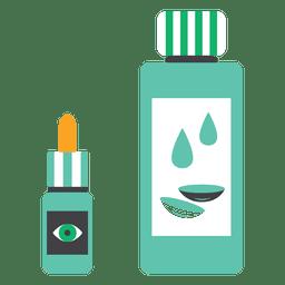 Flat liquid medicine