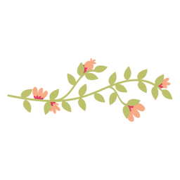 Flower leaves doodle illustration