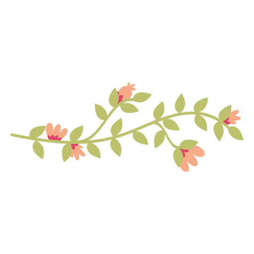 Flor, folhas, doodle, ilustração Transparent PNG