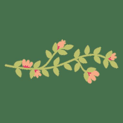 Ilustração do doodle das folhas da flor