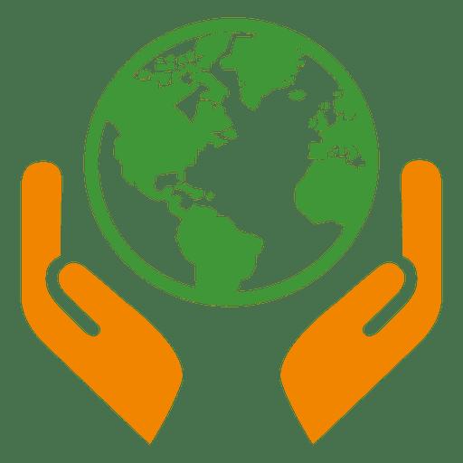 Ícone de mãos do globo Transparent PNG