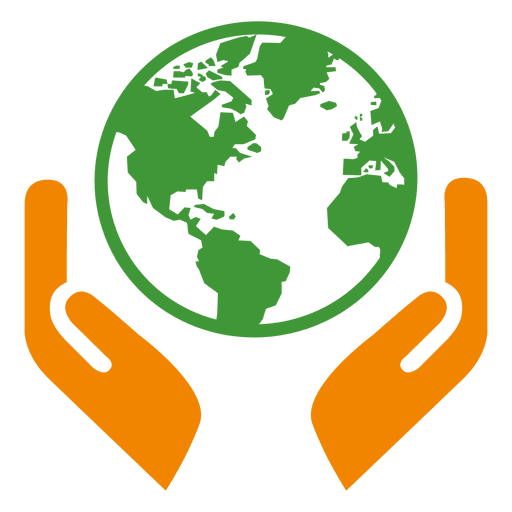 Globe hands icon png
