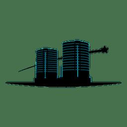 Mehrstöckige Gebäude-Symbol